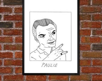 Badly Drawn Paulie - The Sopranos Poster