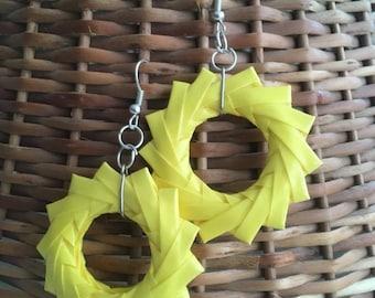 Yellow Origami Earrings