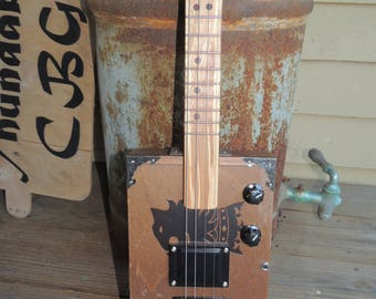 Custom 4 String Cigar Box Guitar