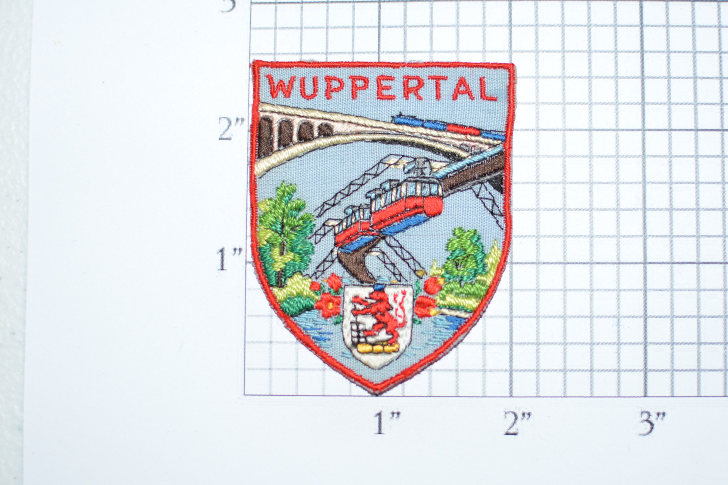 Wuppertal Germany Rare Vintage Sewon Travel Patch Souvenir