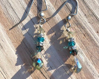 Swarovski crystal earrings, gifts for her, trending jewelry