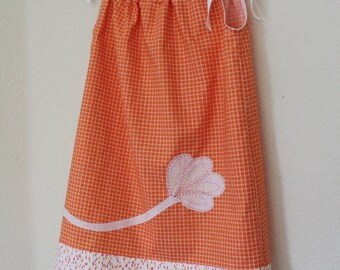 girls dress size 4 or 4T %100 cotton hand embroidered with matching headband 2 piece set