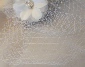Nice for Bridal Veil headpiece, silver metal comb