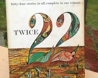 Twice 22 by Ray Bradbury Vintage Hardcover Book