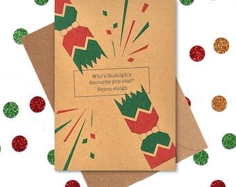 Funny Christmas Card, Funny Christmas Cards, Beyonce Christmas Cards, Christmas Cards, Festive Christmas Cards, Christmas Card