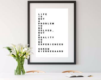 KIERKEGAARD, kierkegaard quote, print, kierkegaard print, art print, 8x10 print
