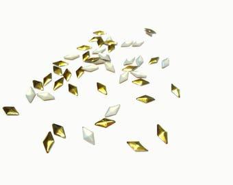 8x4mm Gold Diamond Studs, Nail Art Decals