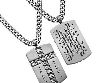 """Chain Cross """"Fear Not"""""""