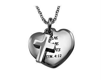 "Sweetheart Necklace ""True Love Waits"""