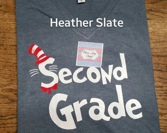 Dr Seuss Teacher Shirt. Teacher Shirt.  Teacher I am Shirt. Second grade I teach. Dr Seuss shirt