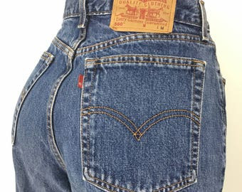 90s Levis High Waist Jean, Loose Fit with Straight Leg 560 Style, Stonewashed Mom Jeans