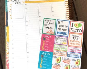 Keto Diet/Lifestyle Planner Stickers