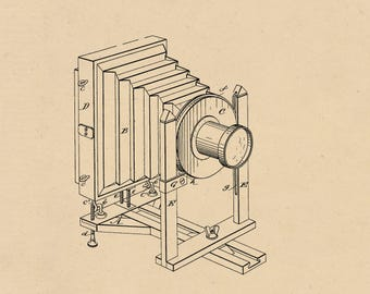 Photographic Camera Patent #378973 dated March 6, 1888.