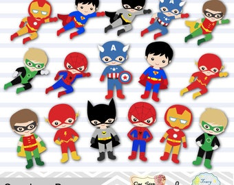 24 Little Boy Superheros Digital Clip Art, Boys Superhero Clipart,  Superhero Party, Super Hero Clip Art, Super Hero Boys Clipart, 0190