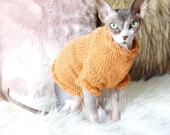 FREE SHIPPING, handmade cat clothes, knitted cat sweater, cat clothes, cat sweater, sphynx clothes, clothes for sphynx, sweater for sphynx