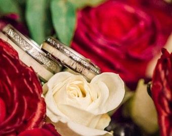 Tungsten Ring Tungsten Wedding Ring Band Meteorite Deer Antler Ring Men Women Wedding Band 8mm Custom Made Handmade Personalized Engraving