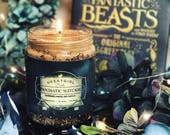 Fantastic Suitcase | Newt Scamander Inspired Candle | Raspberry, Lemon, and Vanilla