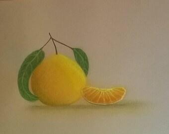 Tangerine Pastel Original 6x8