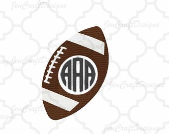 Football Monogram Embroidery Design Frame, Team Monogram, Fall Instant Download digital file in PES, EXP, VIP, Hus, Xxx and Jef