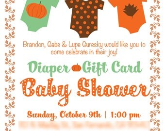 Pumpkin Baby Shower Invitation | Digital File