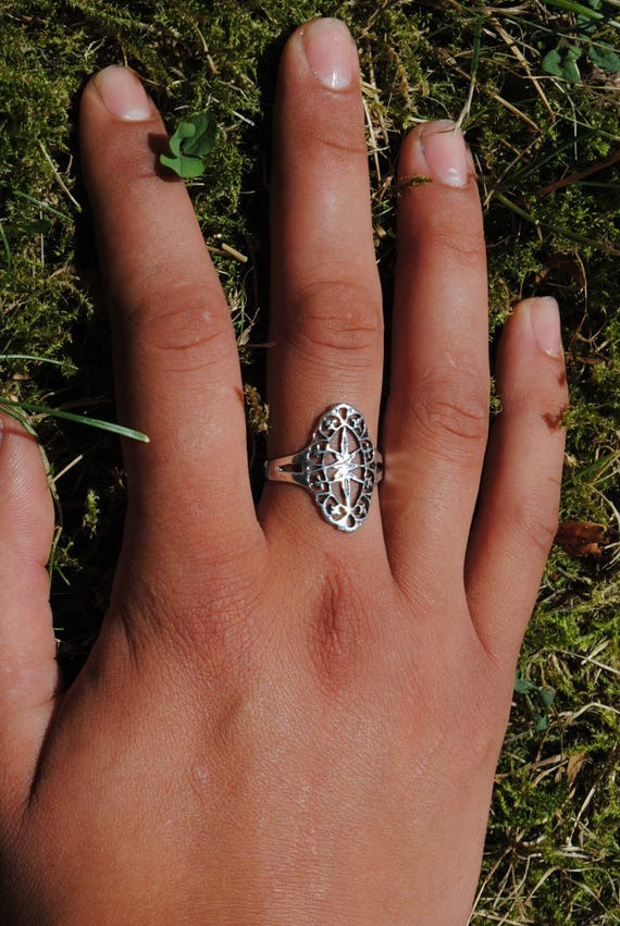 Vintage silver ring for women, sterling silver rings, vintage rings, ring for a woman, gift for a woman, silver rings, beautiful rings