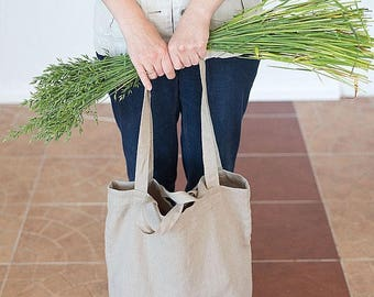 Shoulder bag, Shopping bag, Tote bag, Natural linen bag, Summer bag, Weekender bag, Beach bag, Travel bag, Linen Bag, Bag with pocket