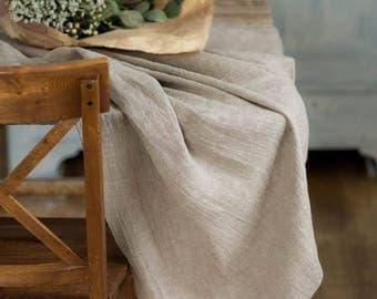 Wedding Tablecloth, Natural Rough Linen Table Cloth, Burlap Tablecloth,  Rustic Table Cloth,