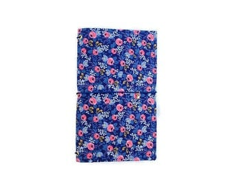 Rifle Paper Co Fabric Traveler's Notebook Rifle Fauxdori Rifle Paper Co. Rifle Journal Bullet Journal Cover Midori Cover Floral Dori NELLIE