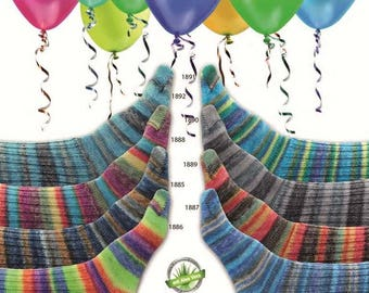 SuperSocke Online Carnival Colors (Discontinued) Sock Yarn