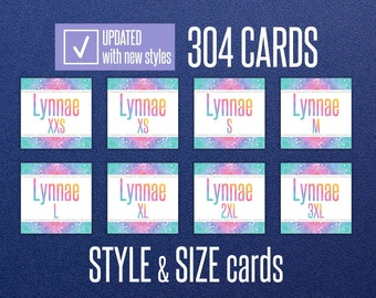 LLR Style & Size Cards * Home Office Approved * INSTANT DOWNLOAD * Facebook Album Covers * Style Cards * Name * Size Cards * Marketing Set