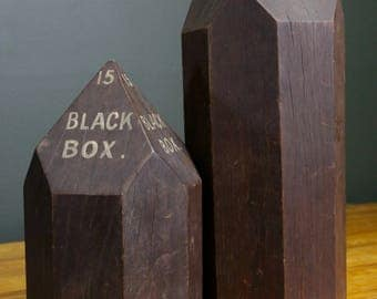 Vintage Eucalyptus Wood Block Mold Millinery Form Tool Display Industrial Diamond Hat Holder Stand Sculpture Coffee Table Primitive Rustic