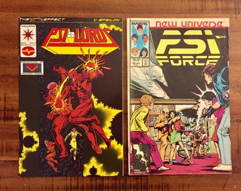 1986 Psi Force #12 and 1994 Psi-Lords #3 Comic Books/ NM-GD/ Marvel Comics/ Valiant Comics/ Choose One Comic or Both for a Discounted Price!