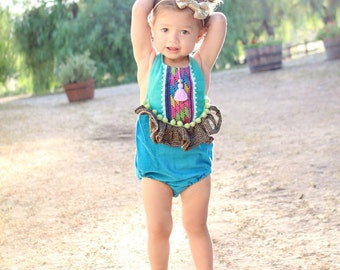 Boho Mermaid Inspired Romper Baby/Toddler