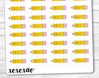 B040 | Quiz Kawaii Planner Stickers