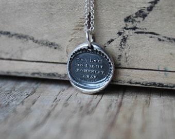 Memory wax seal fine silver charm