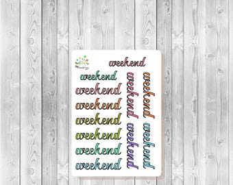 S132 - 12 Weekend Script Planner Stickers