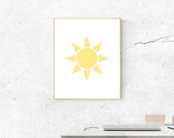 Sunshine, Digital Print, Sunshine Wall Art, Sunshine Art, Digital Download,  Wall Prints, Printable Art, Sunshine Poster