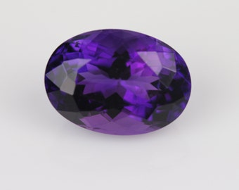 Amethyst oval,african origin,deep purple colour amethyst,tcw-6.65