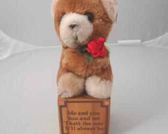 1985 Bear on a Block By Paula