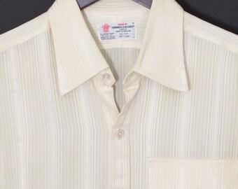 Size 16/31 - Turnbull & Asser 1970's VTG bespoke silk shirt tailored in England