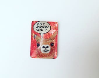 Llama Magnet Do I know you?