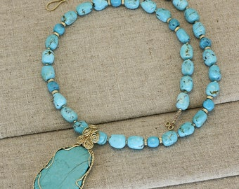 BN214- Sleeping Beauty Turquoise necklace