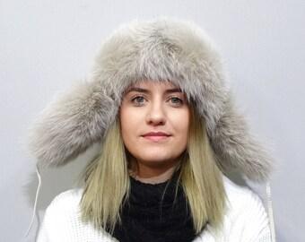 Unisex Russia Fur and Leather Hat, Ushanka F759