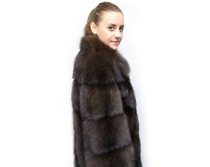 Luxury Fisher Coat,Real Fur Jacket F375