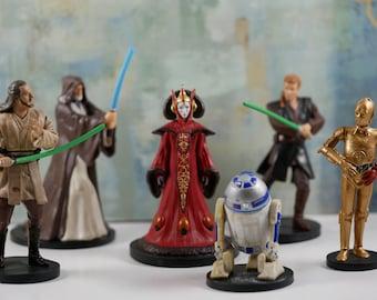 Star Wars, Star Wars cake topper, Star Wars party theme, Star Wars cake, set of 6 pc Star Wars , R2-D2, C-3PO