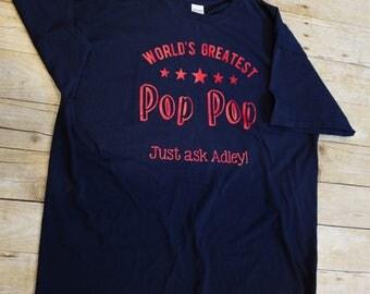 Worlds Greatest Grandpa/PopPop/Grandfather T-Shirt