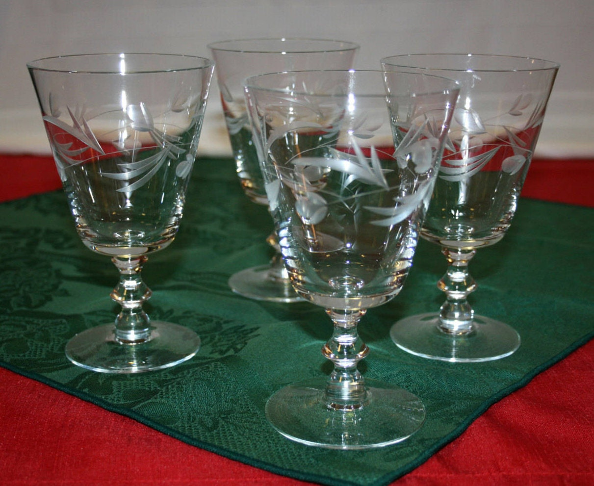 vintage crystal wine glass water glasses wine goblet water. Black Bedroom Furniture Sets. Home Design Ideas