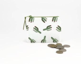 Cactus coin purse, Coin zipper purse, Cute cactus, Coin pouch, Cute zipper pouch, Coin purse wallet, Christmas gift, Change purse