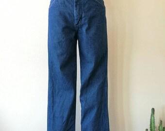 Vintage 1980s Wrangler dark wash  blue denim jeans