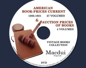 American Book Prices Current & Auction Prices of Books 31 PDF E-Books 1 DVD